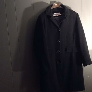 Black Calvin Klein pea coat